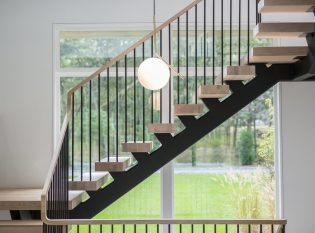 Floating stair pencil rail 6