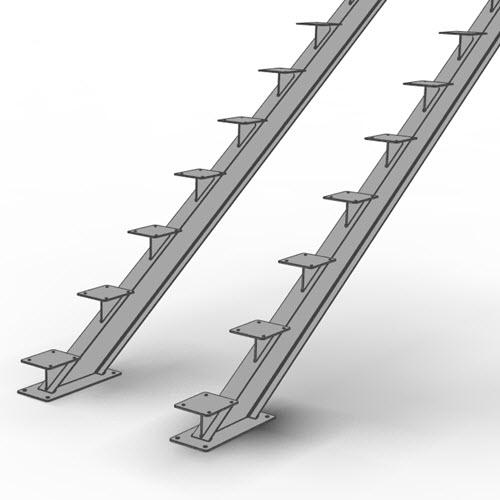 I-beam stair stringer illustration