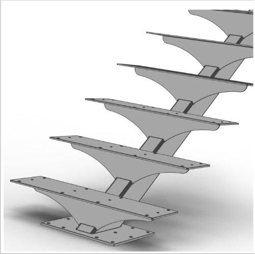 floating stir rectangular tube illustration