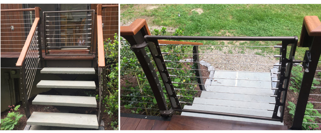 Lockable Deck Gate in the cable railing style