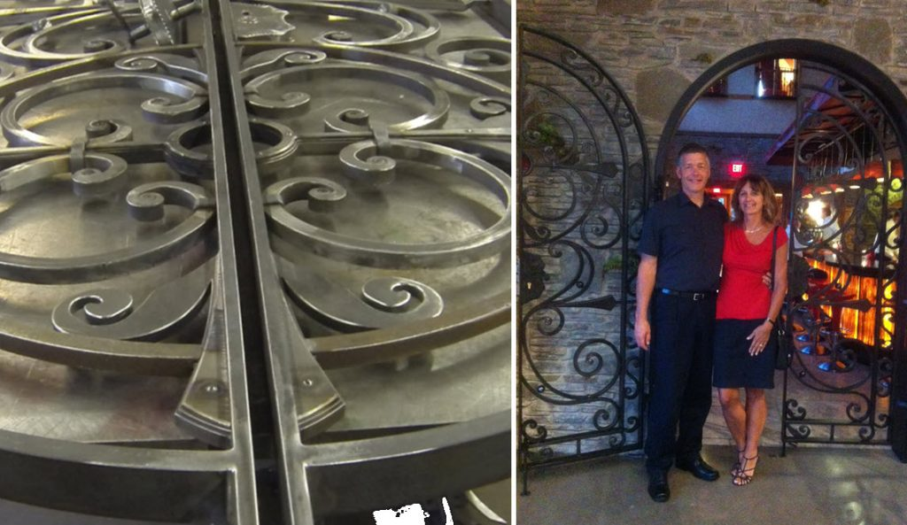 Ornamental style restaurant gate