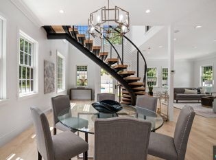 Custom Curved Floating Stairs