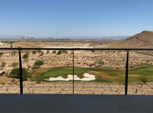 Golf Course view through deck cable railing
