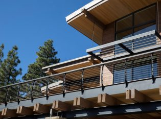 Fascia Mounted Curved Cable Railing System