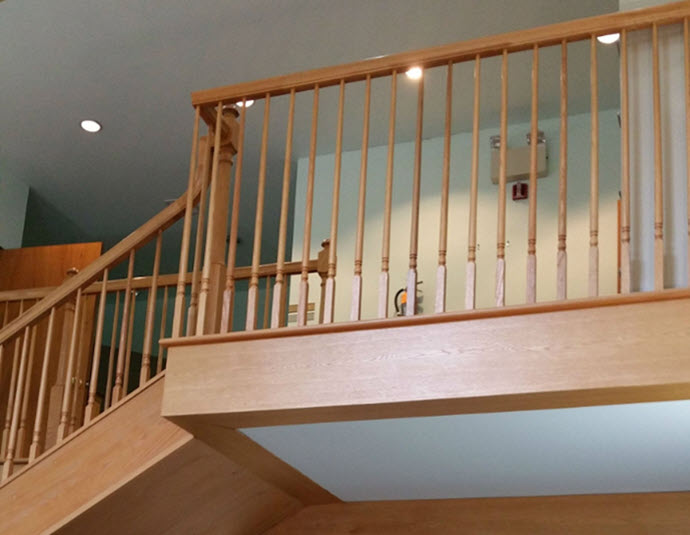 Before Office Spindle stair railing and balcony